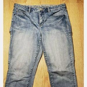 Calvin Klein Shape Women's Jeans 32/14 Distressed